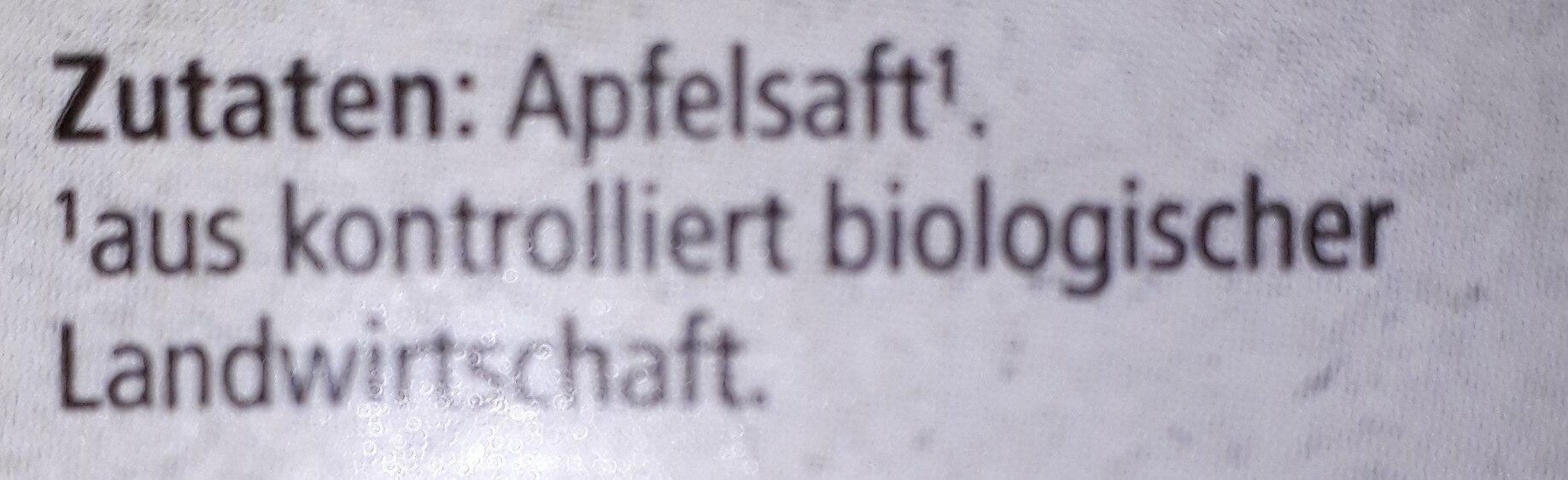 Bio Apfelsaft Naturtrüb, 100% Direktsaft Mild - Ingrédients