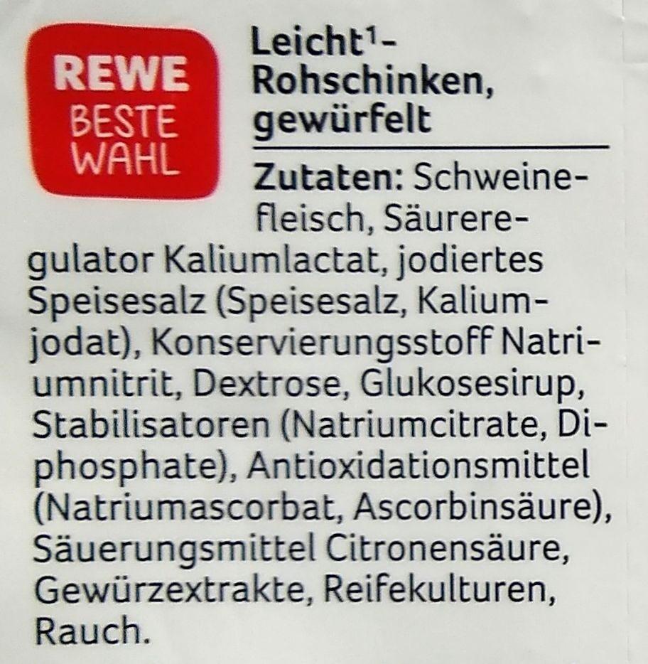 Leicht Rohschinken gewürfelt - Ingredienti - de