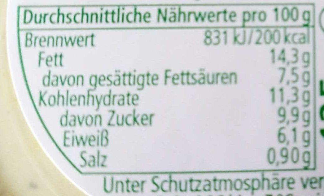 Brotaufstrich Senf-Honig-Feige - Nutrition facts