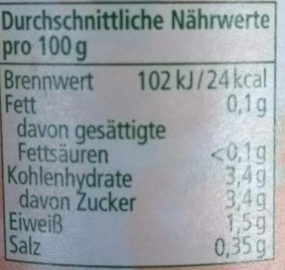 Bio Passata, aus frischen Tomaten - Informations nutritionnelles