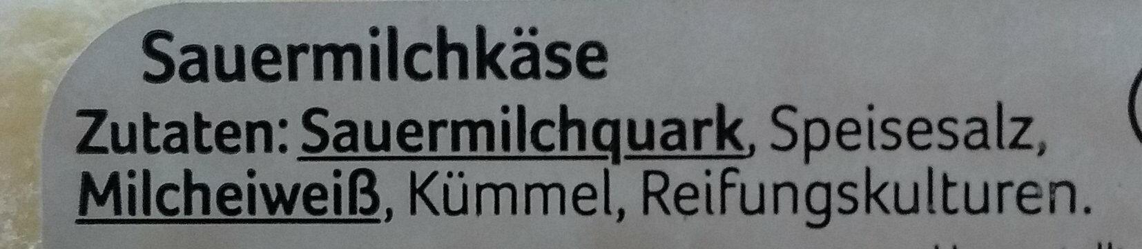 Harzer Käse - Ingredients