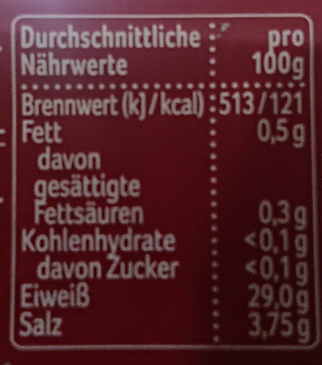 Harzer Käse - Nutrition facts