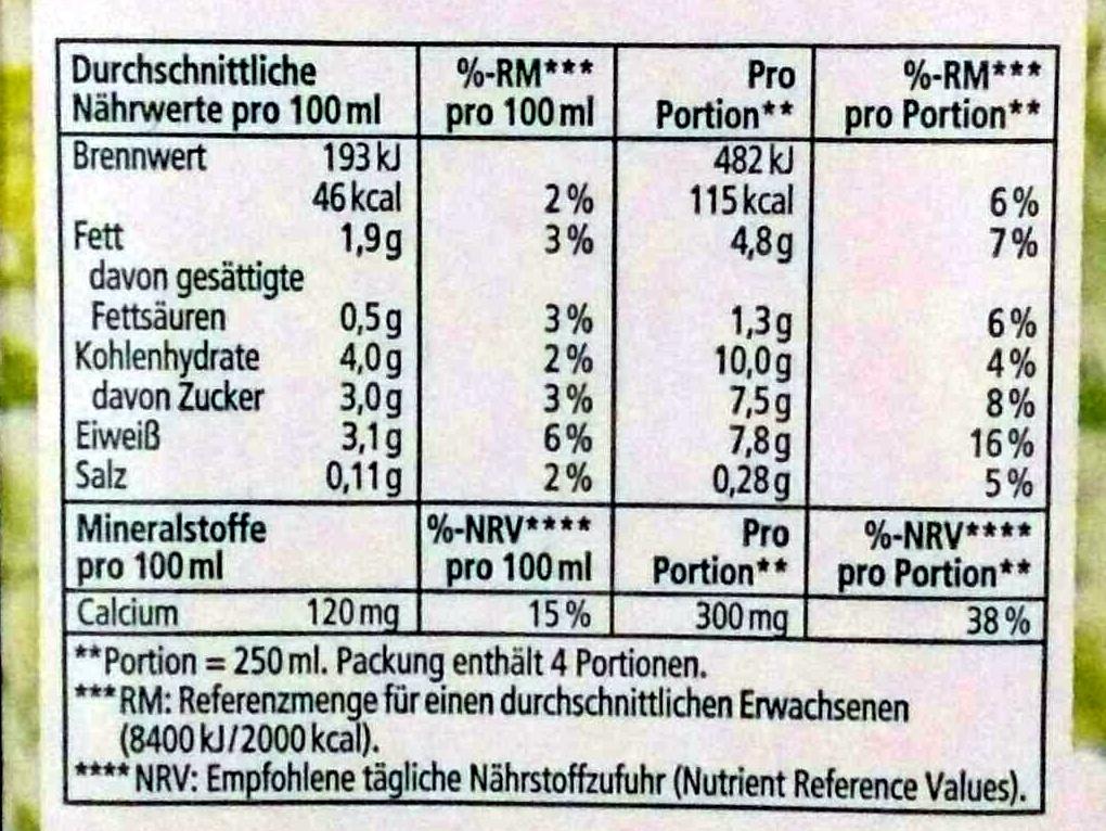Soja-Drink + Calcium - Informations nutritionnelles