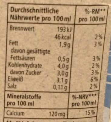 Soja-Drink + Calcium - Informations nutritionnelles - de
