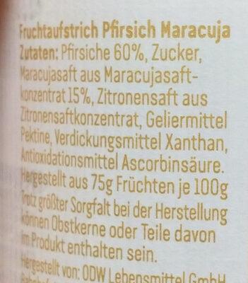 Pfirsich Maracuja - Ingrediënten