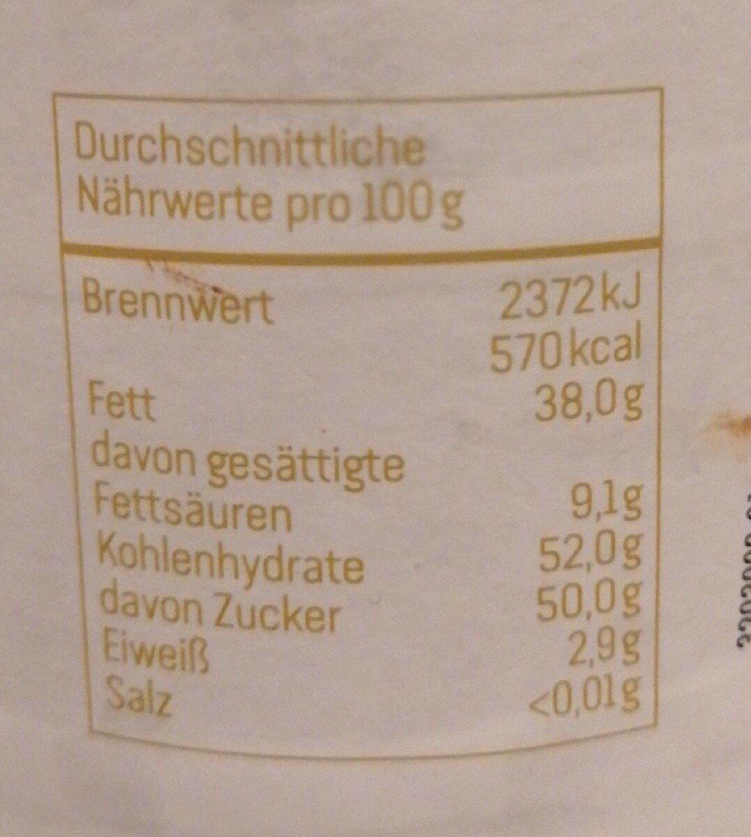 Dunkle Kakao Creme - Valori nutrizionali - de