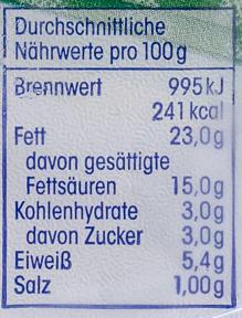 Kräuter Frischkäse - Informations nutritionnelles - de