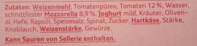 Baguette Tomate-Mozzarella - Ingredients