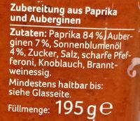 Ajvar mild - Ingrédients - de