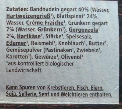 Tagliatelle mit Blattspinat und Grünkern - Ingredients - de
