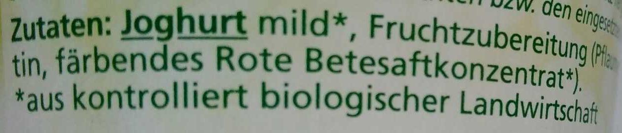 Joghurt mild Pflaume - Ingredients - de