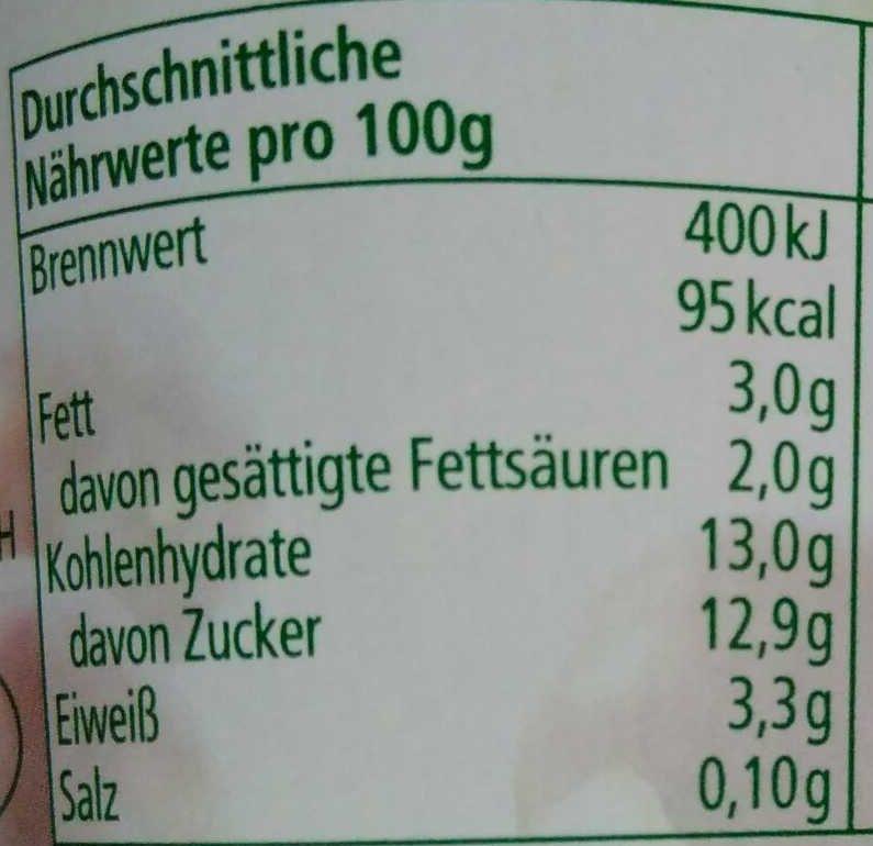 Joghurt mild Pflaume - Nutrition facts - de