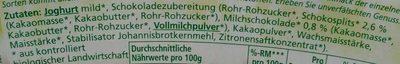 Joghurt mild Schoko mit Schokosplits - Ingredients