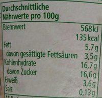 Joghurt mild Schoko mit Schokosplits - Nutrition facts