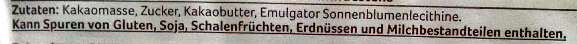 Zartbitter Kuvertüre - Ingrédients