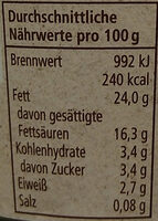 Schmand - Nutrition facts