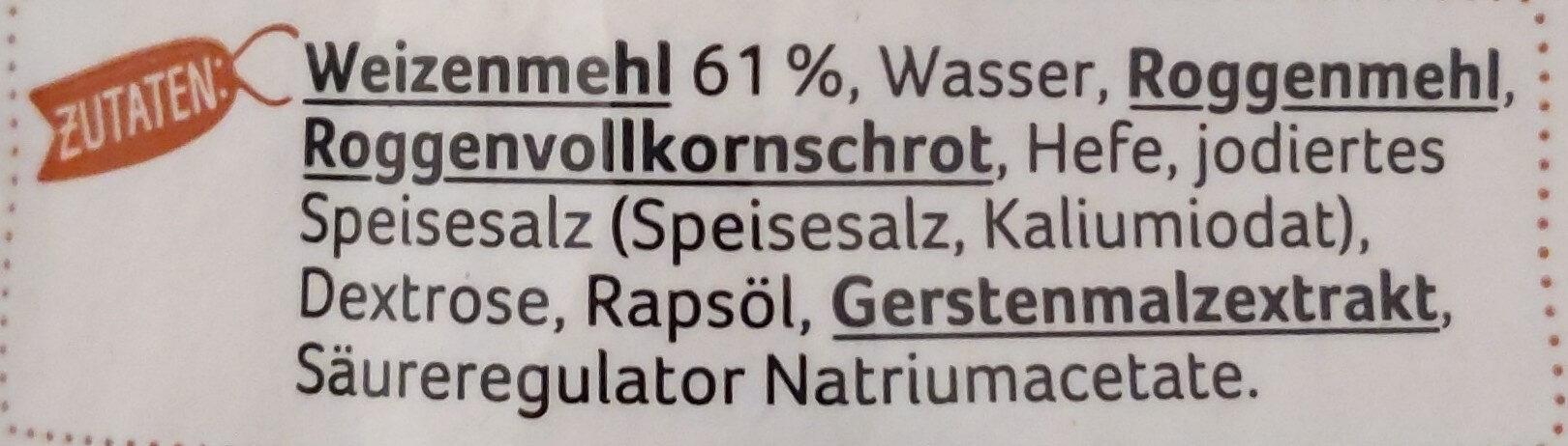 Bauern Brötchen - Ingrédients - de