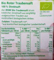 Rewe bio roter traubensaft - Ingrédients