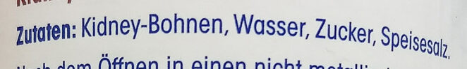 Kidney-Bohnen - Ingredients - de