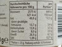 Erdnussbutter creamy - Nutrition facts - de
