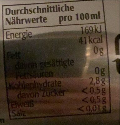 Original Turmbräu Premium Pils 0, 5L - Voedingswaarden - de