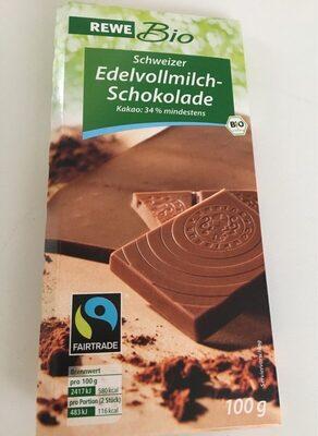 Schweizer Edelvollmich Schokolade - Produkt - de