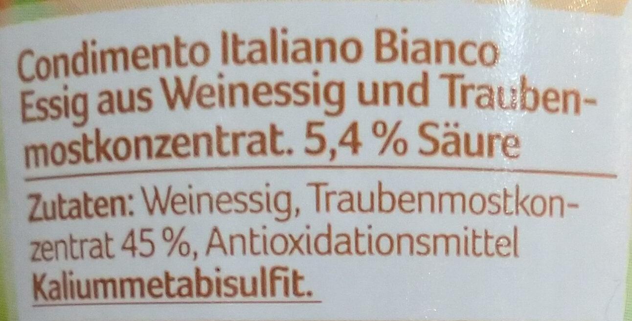 Condimento italiano bianco - Ingrédients - de