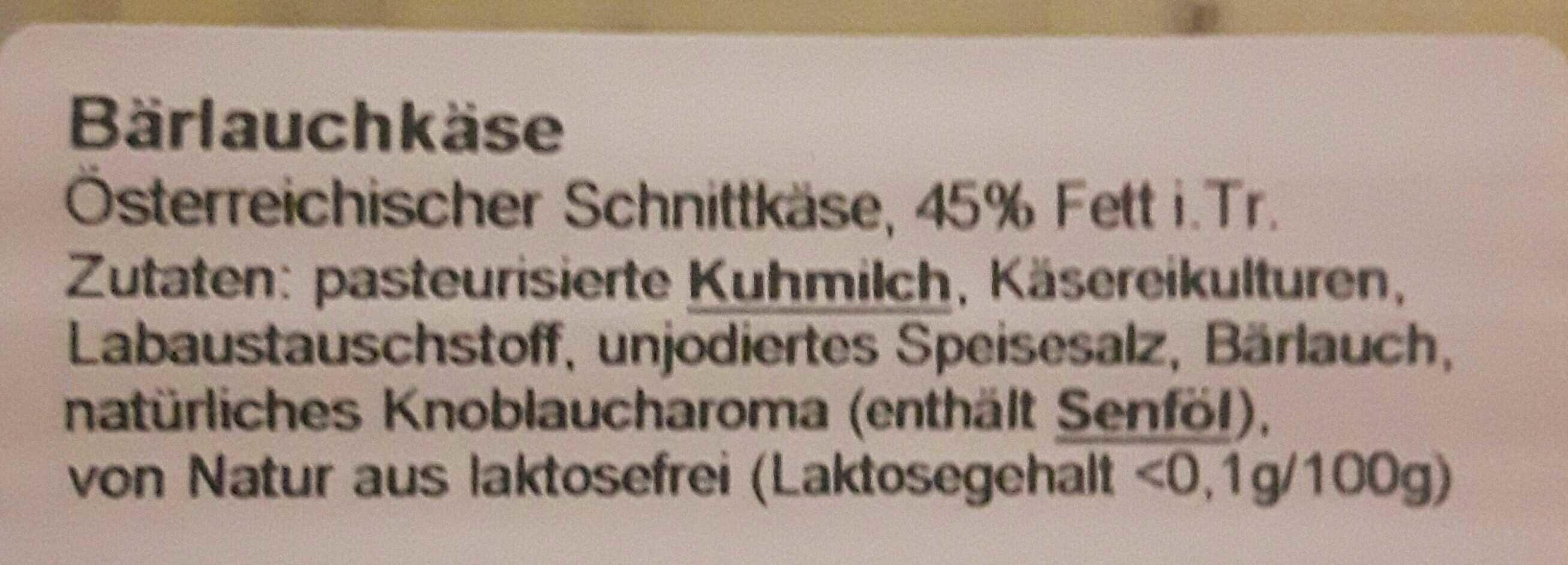 Bärlauchkäse - Ingredients