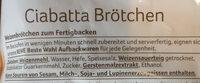 Ciabatta Brötchen - Ingrediënten - de