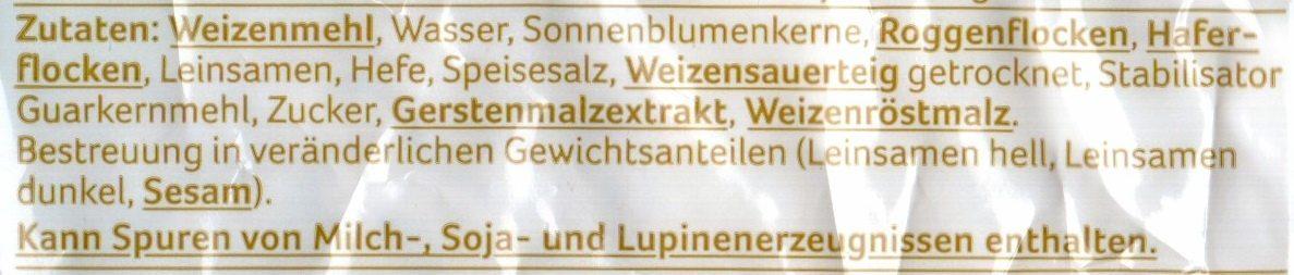 Mehrkorn Brötchen - Ingredients