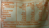Gourmet Brötchen - Nutrition facts - de