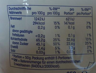 Soft Datteln, getrocknet, entsteint - Voedingswaarden - en