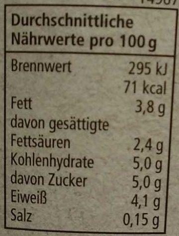 Joghurt mild - Nutrition facts