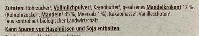 Mandelkrokant-Schokolade - Zutaten - de
