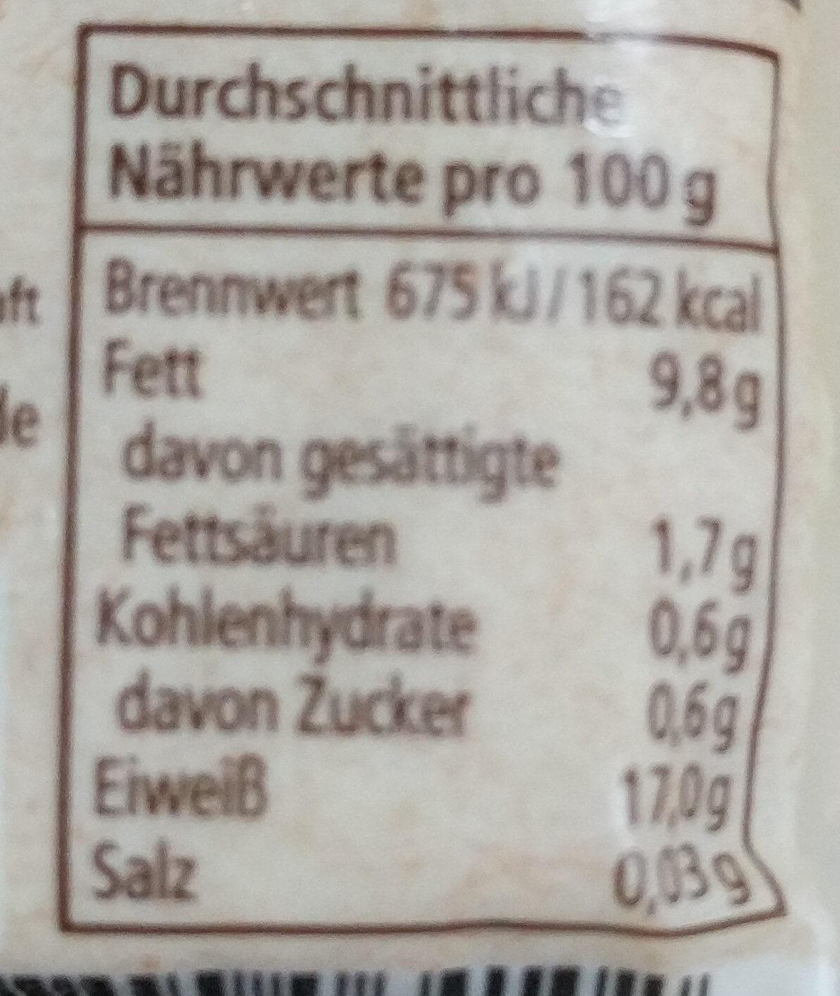 Tofu Natur Mild - Informations nutritionnelles - de