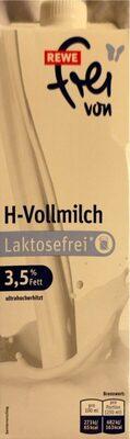 H-Vollmilch ultrahocherhitzt Laktosefrei - Produkt - de
