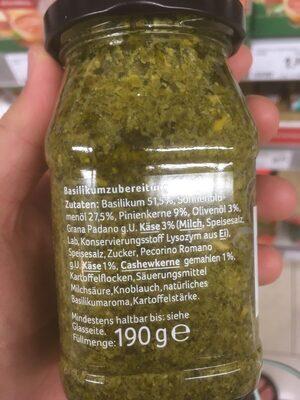 Pesto Verde alla Genovese - Ingrédients - fr
