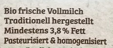 Frische Vollmilch - Ingredients