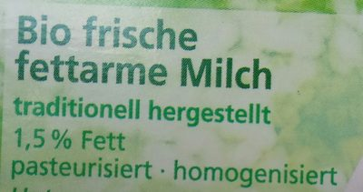 Frische fettarme Milch - Ingredients - de
