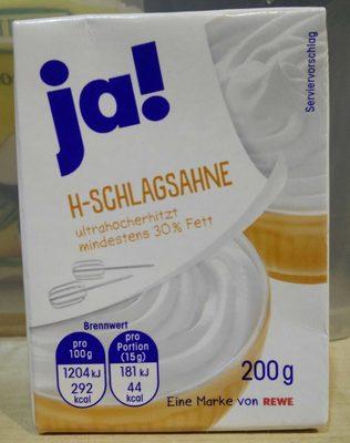 H-Schlagsahne - Produkt