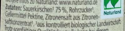 Rewe Bio Sauerkirsche Fruchtaufstrich - Zutaten - de