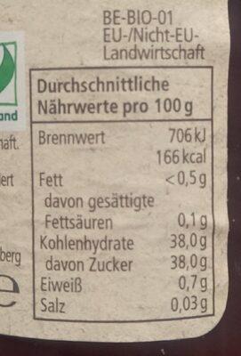 Rewe Bio Sauerkirsche Fruchtaufstrich - Nährwertangaben - de