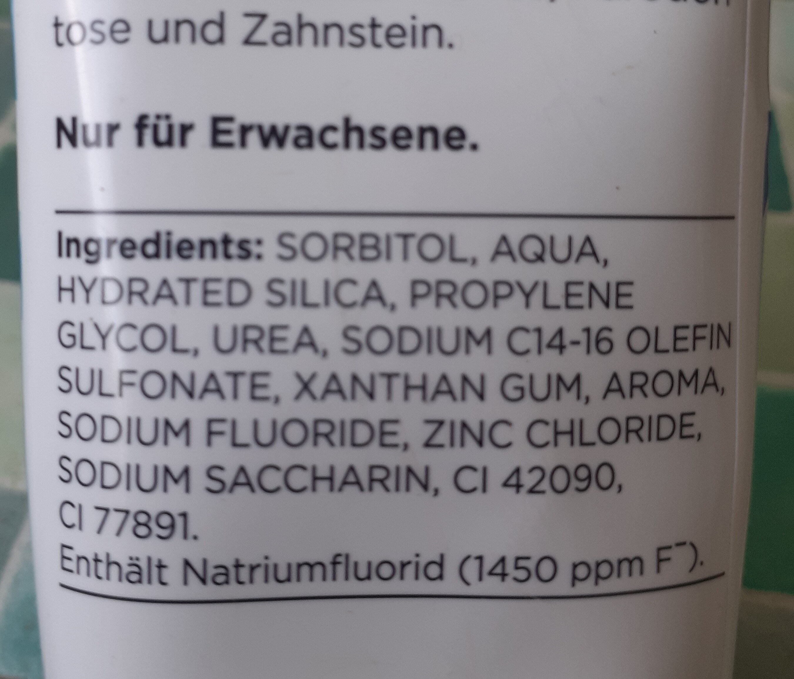 frische gel - Ingredients - de
