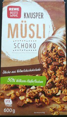 Müsli, Knusper Schoko - Produkt