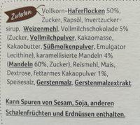 Müsli, Knusper Schoko - Inhaltsstoffe