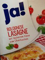 Bolognese Lasagne mit leckerem Käse zum Überbacken - Produkt