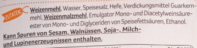 Sonntags Brötchen - Ingredients - de