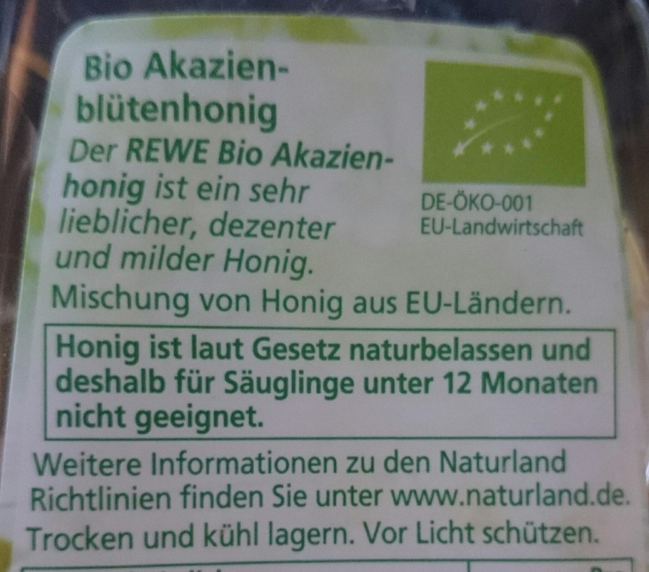 Honig , Akazie - Zutaten - de