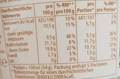 Rewe soja-Eis - Informations nutritionnelles - fr