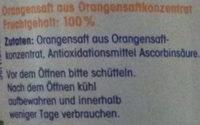 ja! Orangensaft - Ingrédients - de